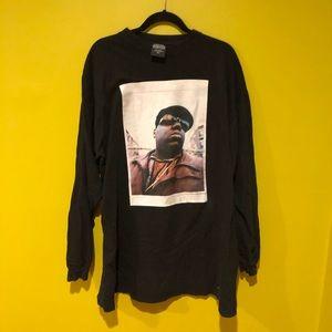 Black Long Sleeve Biggie Smalls T Shirt